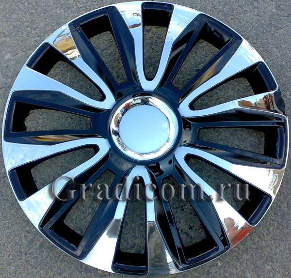 колпаки на колёса avalone chrome black