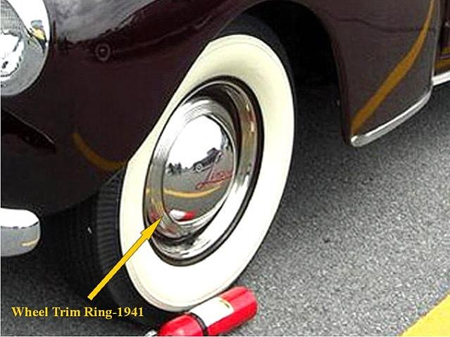 Trim rings on Lincoln 1941