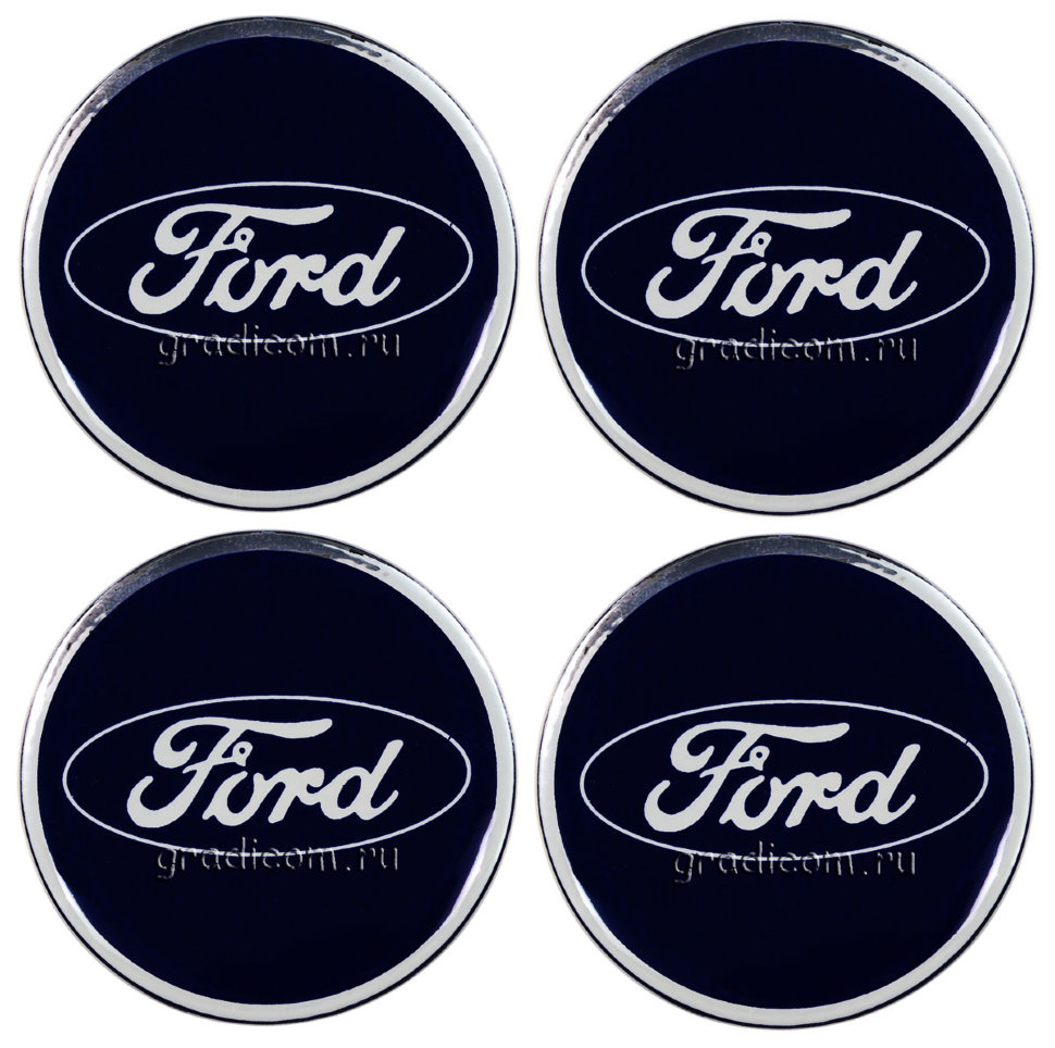 наклейки ford на диски 49 мм