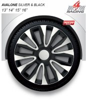 Avalone silver black 16""